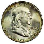 1960 Franklin Half Dollar NGC MS-65 FBL