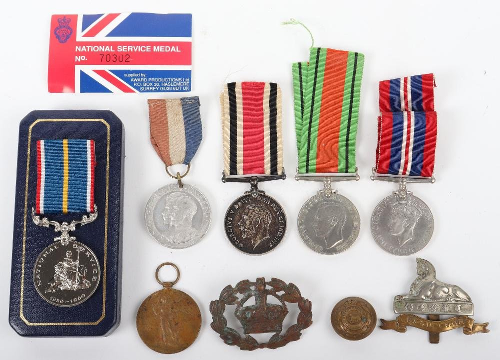 WW1 / WW2 British Lincolnshire Regiment Medal Group of