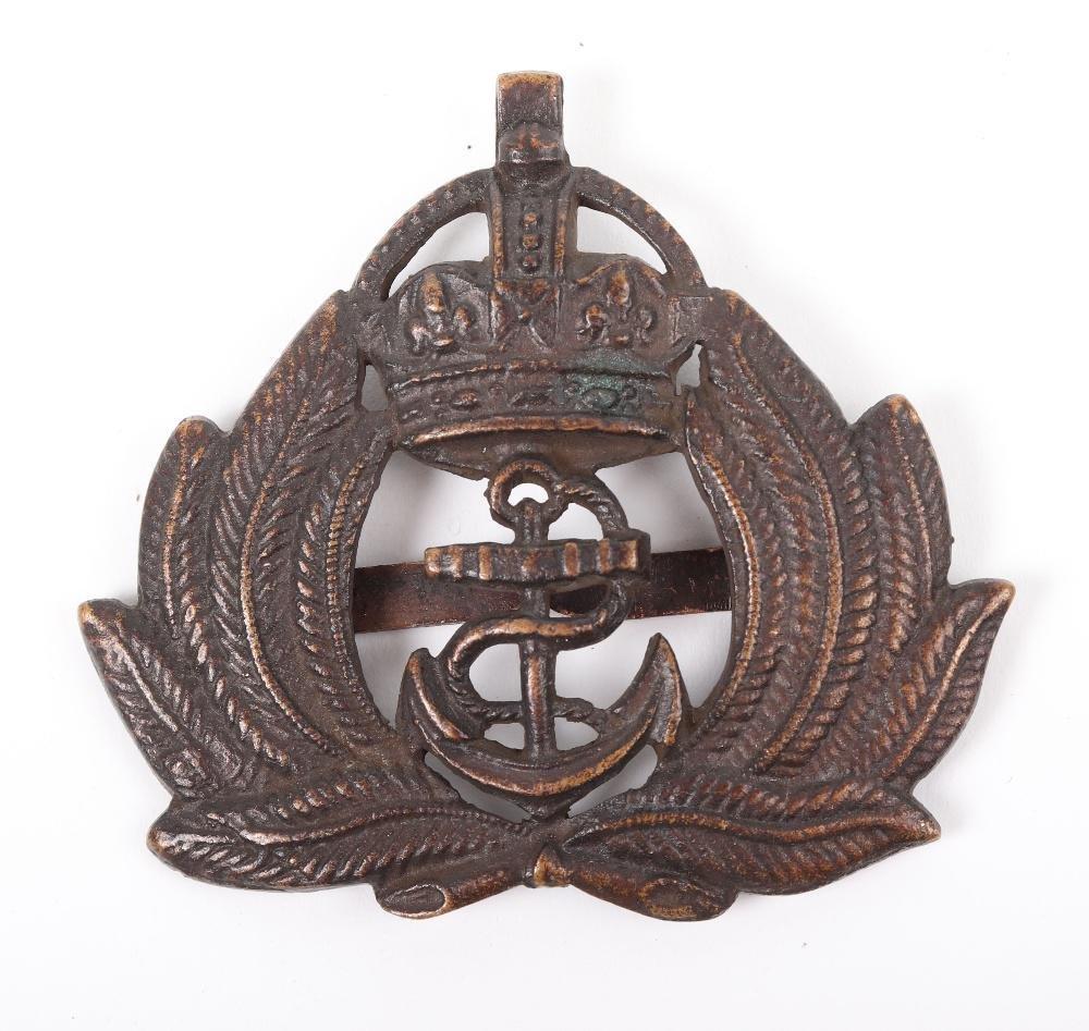 WW1 Royal Naval Division Officers Cap Badge