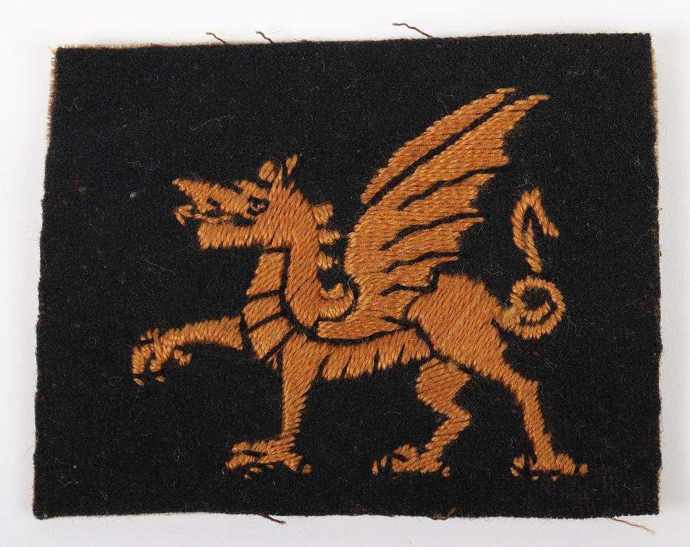 WW1 British 38th Welsh Division Cloth Formation Sign