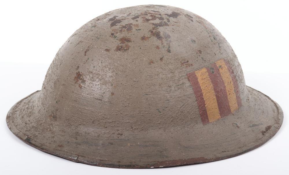 WW1 Royal Naval Division Marked Brodie Steel Helmet