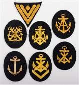 WW2 German Kriegsmarine Cloth Insignia Grouping