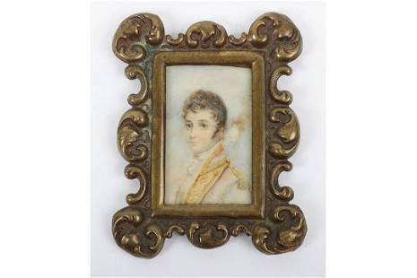 Small Georgian Portrait Miniature of a Military Officer