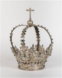 Importante corona de grandes dimensiones para talla de