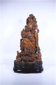 "chinese sandalwood ""figure"" ornament,qing dynasty"