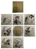 chinese 23 painting and 4 piece calligraphy  by wu