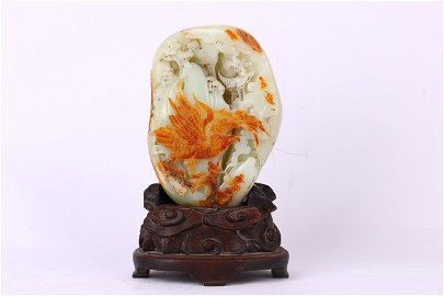Hetian Jade Ornament with an Eagle Stretching its Wings