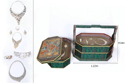 A set of European tribute gemstone jewelry in the 18th