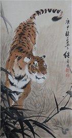 A Liu jipou's tiger painting
