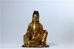 chinese bronze boddhisattva