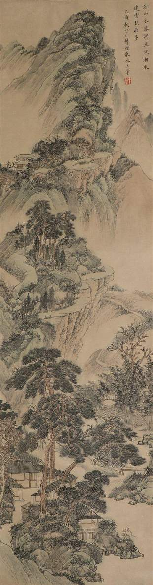 chinese landscape painting by wang hui
