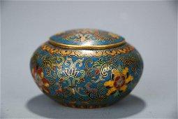 Round Cloisonne Lidded Pot
