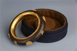 Eaglewood Bracelet with Gilt Inlay