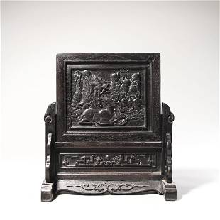 chinese red sandalwood table screen