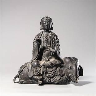 chinese bronze bodhisattva statue