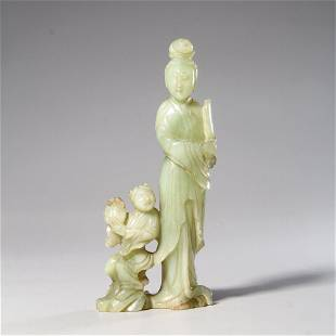 chinese jade carving of figure