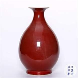 chinese red glazed porcelain porcelain vase
