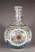 Blue-and-white Globular Vase