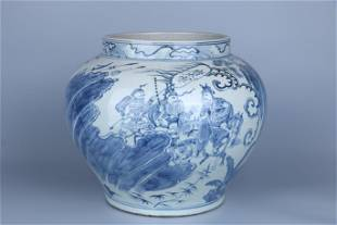 Blue-and-white Pot