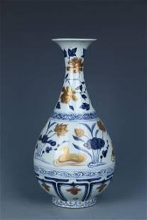 Blue-and-white Gall-bladder Vase