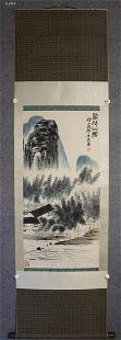 Vertical Painting : Mountain Household by Qi Baishi
