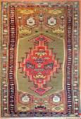 Antique Kazak Caucasian Runner Rug
