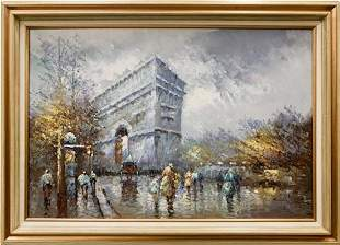 Beautiful (French) Original Oil on Canvas Painting by
