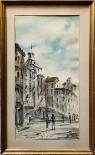 Signed Original Watercolor Painting
