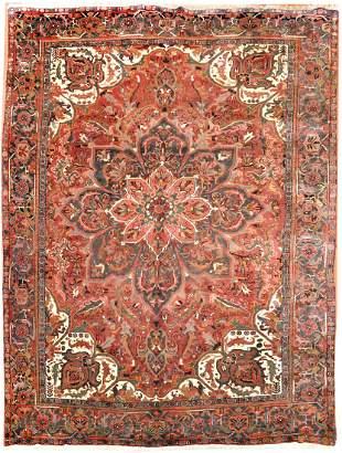 Antique Persian Heriz Rug Circa 1890