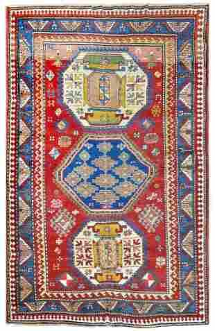 Antique Caucasian Rug Circa 1890