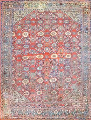 Antique  Collectible Ziegler Mahal Persian Rug Circa 19