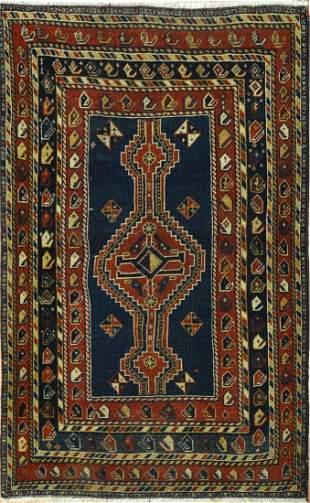 Antique Kazak Caucasian  Tribal Rug, Circa 1890