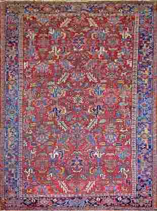 Antique Persian Heriz Rug, Circa 1890