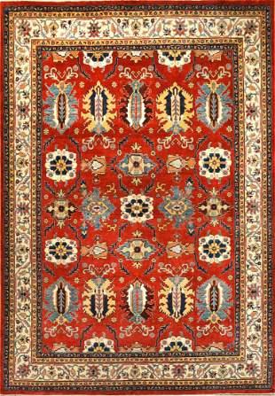 Vintage Kazak Afghan Rug