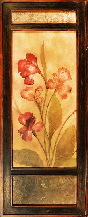 Acrylic on Board Flower in three part