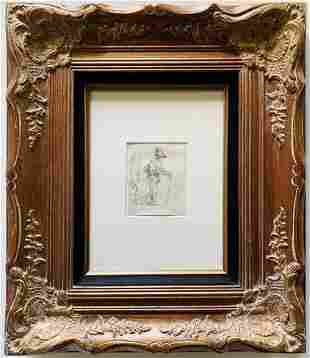 Rembrandt Original Etching Framed