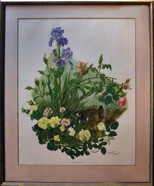 Iris & Roses By Maryrose Wampler