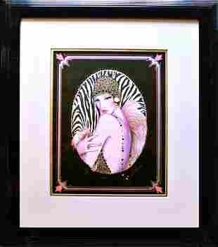 Lithograph Fashion Portrait Painting