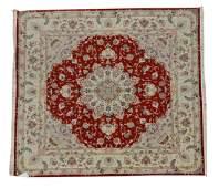 Vintage Tabriz Wool & Silk Persian Rug