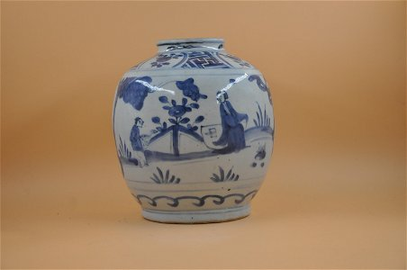 Ming dynasty blue and white bottle