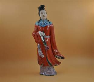 Qing dynasty figure sculpture