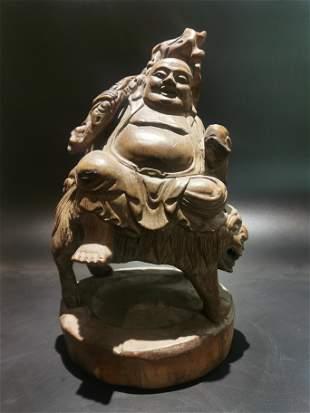 Mid Qing bamboo sculpture joss