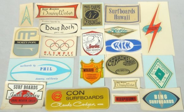 3M: Collection of 1960's Water Slide Surfboard Decals