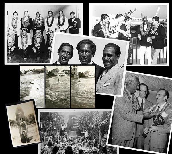 14M: Duke Kahanamoku Photo Set - (Lot of 9 items)