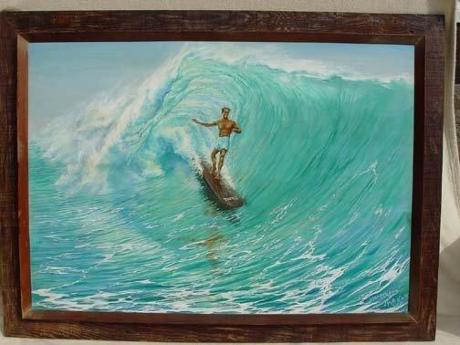 15M: Duke Kahanamoku Painting by Mary McRae Dukes 1969