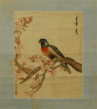 A Painting of Flower and Bird