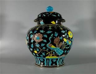 A Magnificent and Fine Fahua Jar