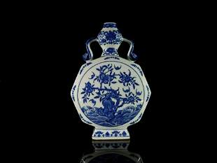 A Fine Blue and White Fruit and Flower Vase
