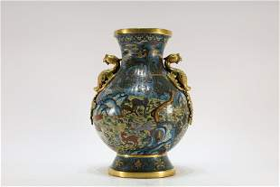 A Cloisonne Enemeled Beast Zun Jar