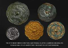 A SET OF ANCIENT CHINESE BRONZE MIRRORS
